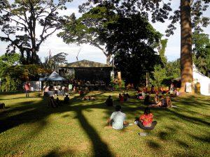 Das Festivalgelände im Botanischen Garten von Entebbe.